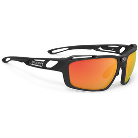 Rudy Project Sintryx Okulary rowerowe, black matte - rp optics multilaser orange / transparent